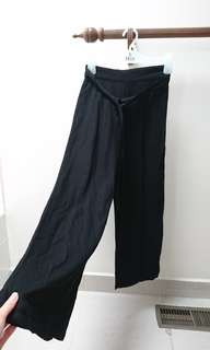 black tie waist culottes size 6 xs