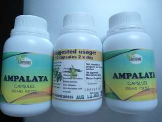 Greenspark Ampalaya Capsules for Diabetic 100cap 350mg SALE only P230/bottle