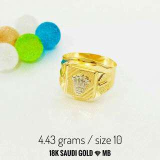 Saudi Gold Men's Ring