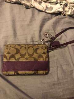 Coach wristlet (dark purple) limited addition