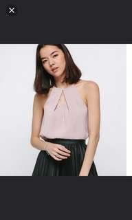 Love Bonito Cortina Top in Blush Size M