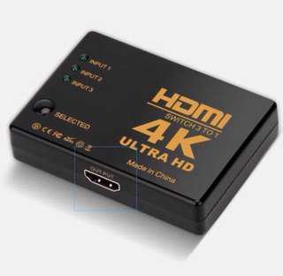 (全新 現貨) 3 in 1 HDMI Switch 3 to 1 支援 4K 分配器 轉換器 分插器 #GOGOVAN50