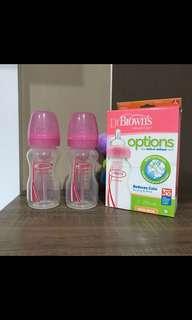 Botol susu dr brown's 270ml pink (2 pc)