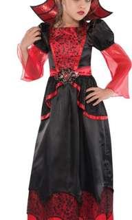Vampire queen Halloween costume girls 7-8