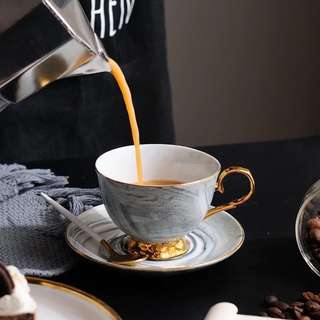 Marble Tea Cup & Saucer