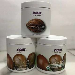 NOW Cocoa Butter, Shea Butter from $10