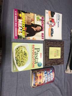 Set of 5 cook books