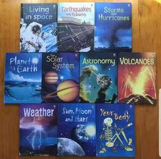 Usborne Beginner Science set. 10 new hardcover books