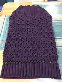 purple knitted vest