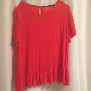 SHEER RED GLASSONS BLOUSE