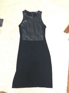 Aritzia Wilfred faux leather bodycon dress