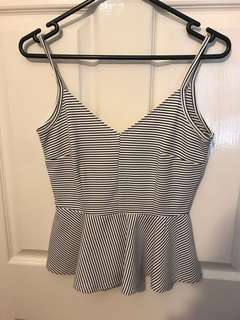 Striped strappy top size 8