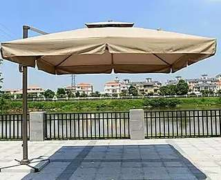 BRAND NEW SUNRAY OUTDOOR PATIO PARASOL  3M ×3M & 2.5M ×2.5M Double top SQUARE umbrella
