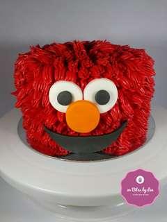Elmo Themed Birthday Smash Cake