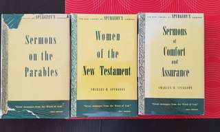 3 Vintage Charles H. Spurgeon books of sermons published in 1950s