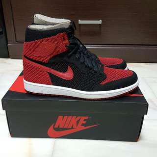 [BNIB] Nike Air Jordan 1 Retro High Flyknit Bred