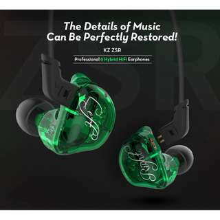 Knowledge Zenith (KZ) ZSR Chi-Fi IEM Earphone