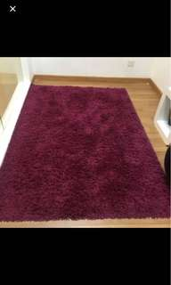 Carpet purple by ikea