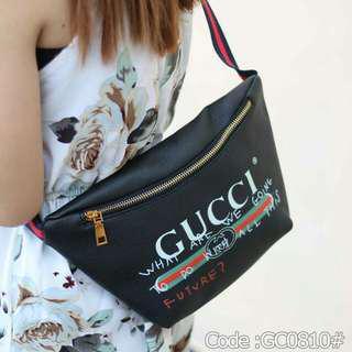 Asli import tas New GUCCI Leather Belt Bag