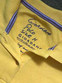 Yellow giordano polo shirt