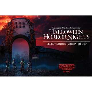 Halloween Horror Nights - HHN 2018 E-Tickets Direct Entry + Meal Voucher