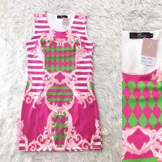 VL5815 YFS ladies pink print dress