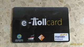 Kartu E-Tollcard E-Money Mandiri Prabayar