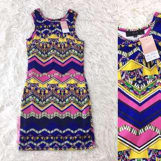 VL5796 MDS colorful print dress
