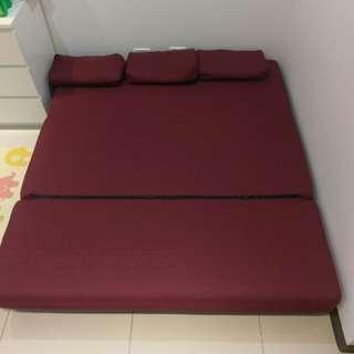 伊登家居 三人座沙發床
