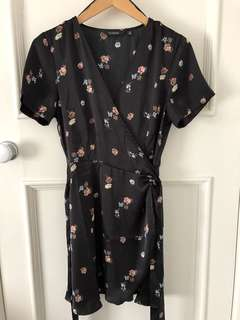GLASSONS Dress - Black and Floral - Size 10