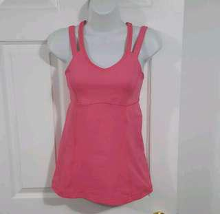 Lululemon Women's Pink Lemonade Happy Strappy Tank Top Yoga Run Gym Sz 6
