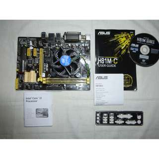 Asus Motherboard-Intel Core i3 Processor bundle, with 4GB RAM