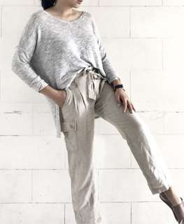 GAP linen Pants w/ tie belt