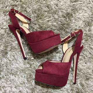 Something Borrowed Peep Toe Platform Heels