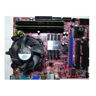 MSI Motherboard bundled with Intel Core 2 Duo Processor, with 4GB RAM