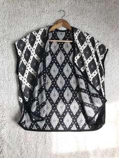 Esprit sleeveless jacquard Knit poncho