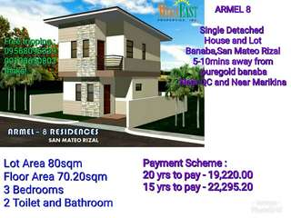 HOUSE AND LOT FOR SALE !! FEW UNITS LEFT!!
