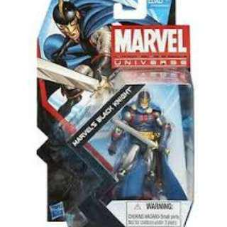 "Marvel Universe Series 5 #029 Marvel's Black Knight and Avengers Infinite 3.75"" Series Northstar MOSC"