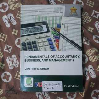 Fundamentals of accountancy, business , and management 2