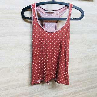 🚚 Rtp$30 pull and bear polka dots tank top
