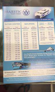 E & physical tickets - ferry batam