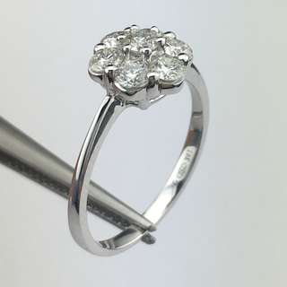 18K白金戒指 72份鑽石(SI1) 18K Withe gold Ring 0.72ct Diamond(SI1)
