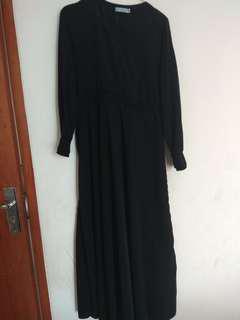 Gamis aja black arabian brand RH