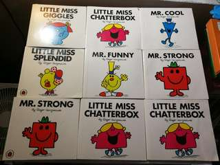 Mr men and little miss books