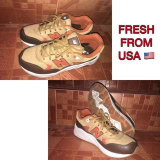 New Balance 580 Deep Freeze 580 Brown Tan Orange Shoes / 7 women // 5.5 - men