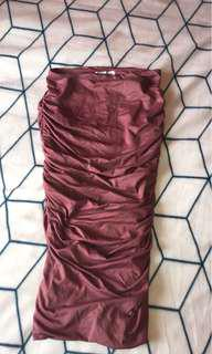 Ruffled pencil skirt