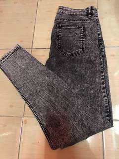 H&M Skinny acid wash jeans