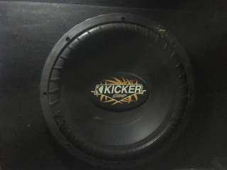 Kicker USA 12 Inch Sub with Custom Box
