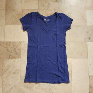 Bench blue vneck shirt