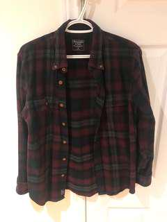 Red Plaid Abercrombie and Fitch Flannel